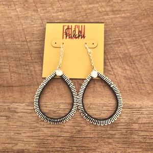 Falchi Silver and Black Teardrop Earrings